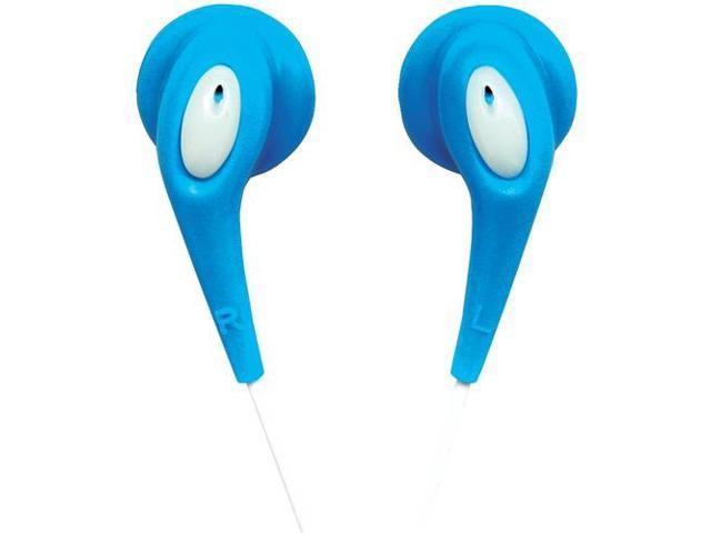 NAXA NE-925 BL JELLEEZE(TM) Hi-Fi Super Bass Digital Stereo Earphones (Blue)
