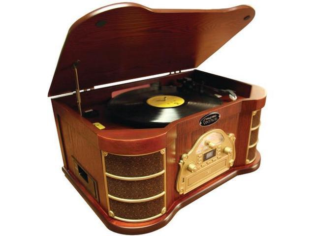 PYLE-HOME PTCDS2UI Classical Turntable with iPod(R), CD & Cassette Player, AM/FM Radio & USB Recording