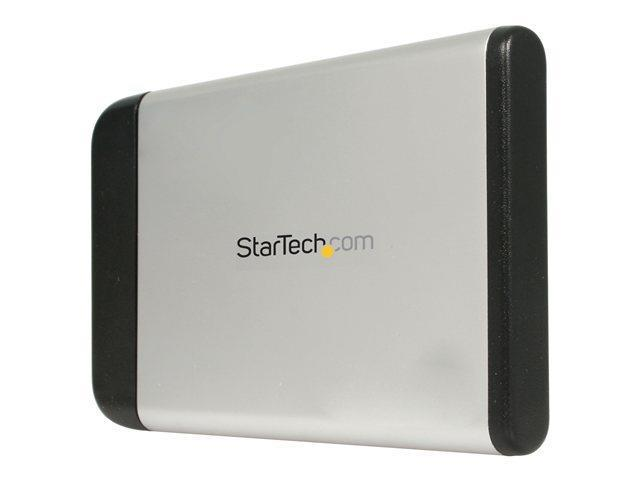 StarTech.com 2.5in Silver USB External Hard Drive Enclosure for S ...