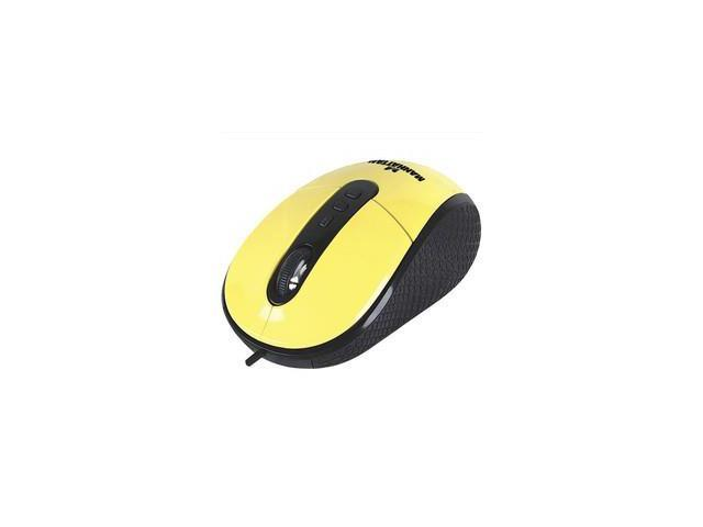 Optical Mouse, Yellow, USB