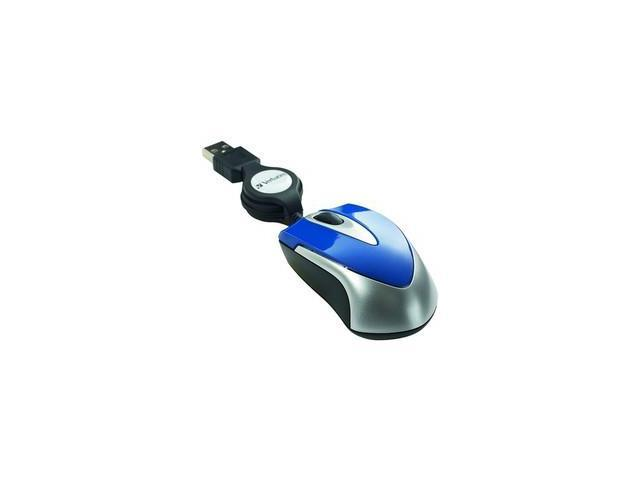 Mini Optical Travel Mouse, USB, Blue