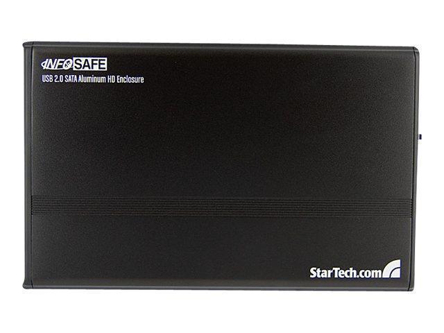 StarTech.com 3.5in Black USB 2.0 to SATA External Hard Drive Encl ...