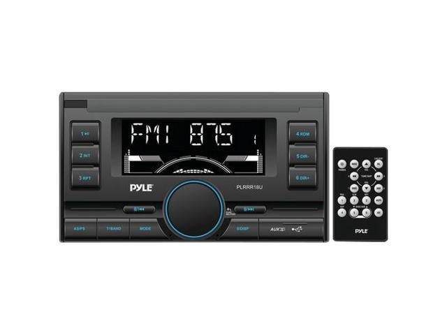 Pyle PLRRR18U Digital Receiver with USB/SD Memory Card Readers, AM/FM Radio, AUX Input, Remote Control