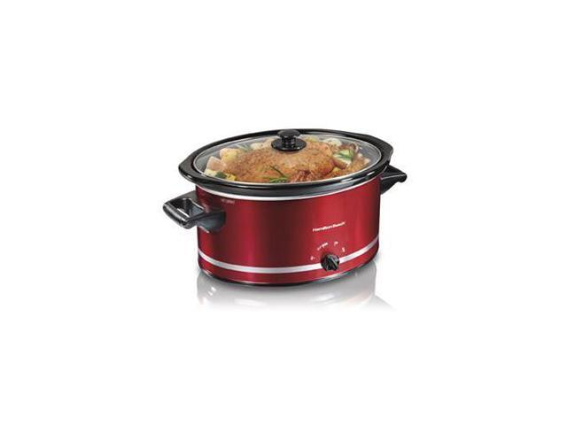 Hamilton Beach 33184 Red 8 Qt. 8qt Oval Slow Cooker Red