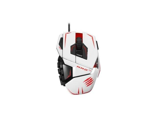 Mad Catz M.M.O. TE Gaming Mouse for PC & Mac - Laser - Cable - White - USB 2.0 - 8200 dpi - Computer