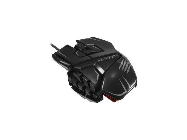 Mad Catz M.M.O. TE Gaming Mouse for PC & Mac - Laser - Cable - Glossy Black - USB 2.0 - 8200 dpi - C ...