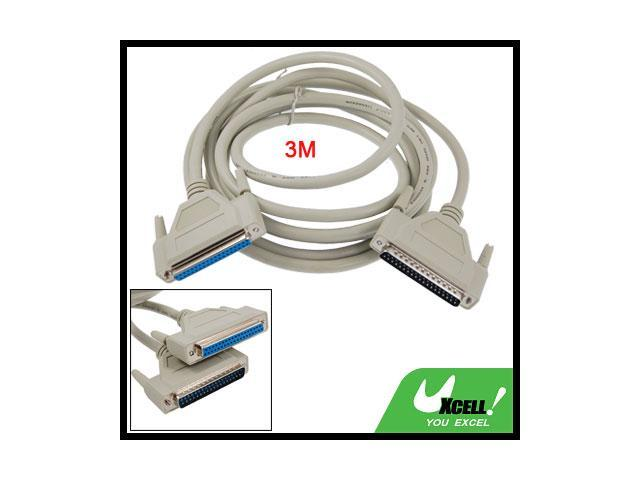 New 3 Meters 37 Pin Male to Female DB37 Extension Cable