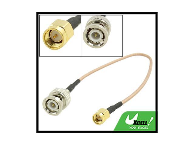 Gold-Plated BNC Male to SMA Male Connector Coaxial Cable 8.8