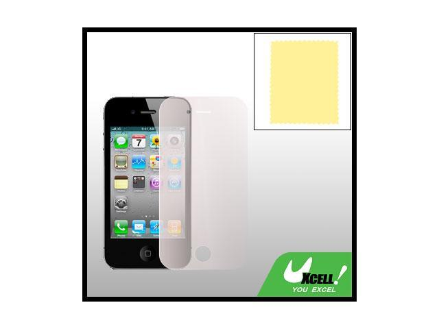 Clear Orange Touch Screen Guard Protector for iPhone 4 4G
