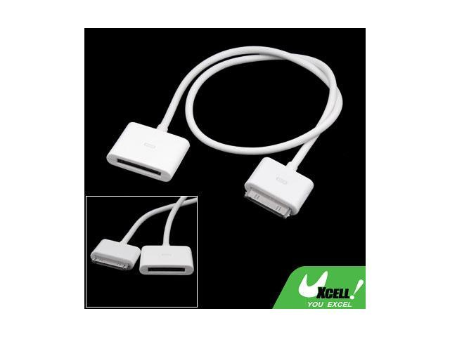 White 50cm Photo Music Dock Extender Cord for iPad
