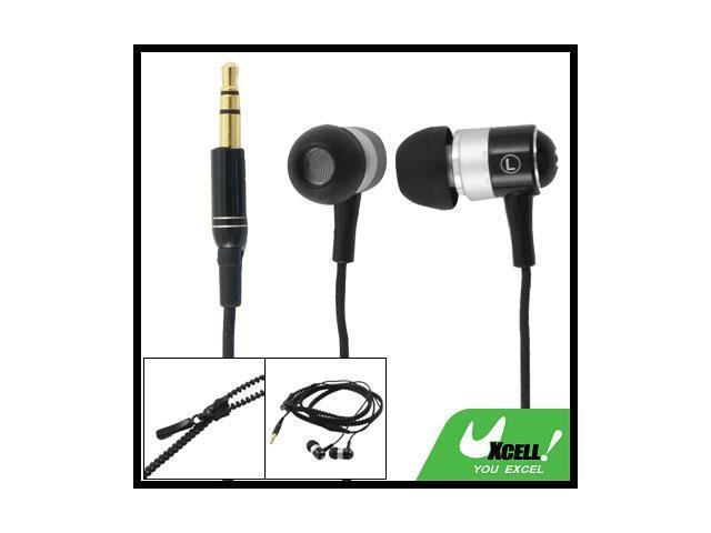 3.5mm Plug Soft Silicone Earbuds Black In Ear Earphone