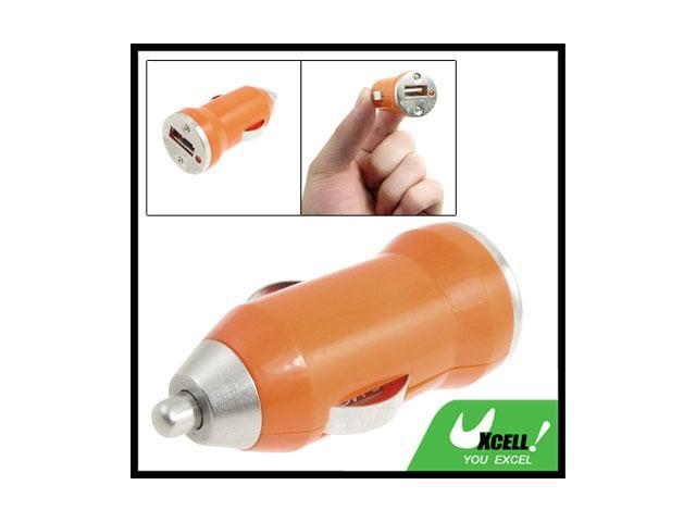 Portable Orange USB Port Car Charger Adapter for iPhone 3G 3GS