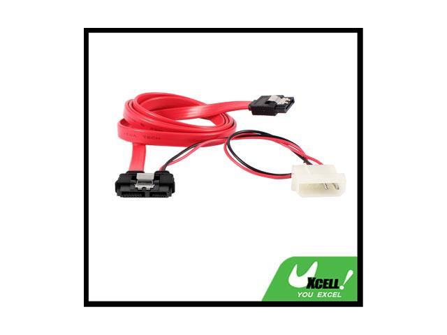 90cm Serial ATA 7+ 6 Pin IDE 2 Pin to SATA 7 Pin Power Cable Lead Black Red