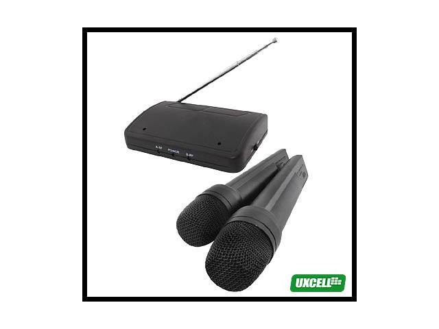 FM Wireless 2 X MICROPHONE KARAOKE MIC Receiver Set New