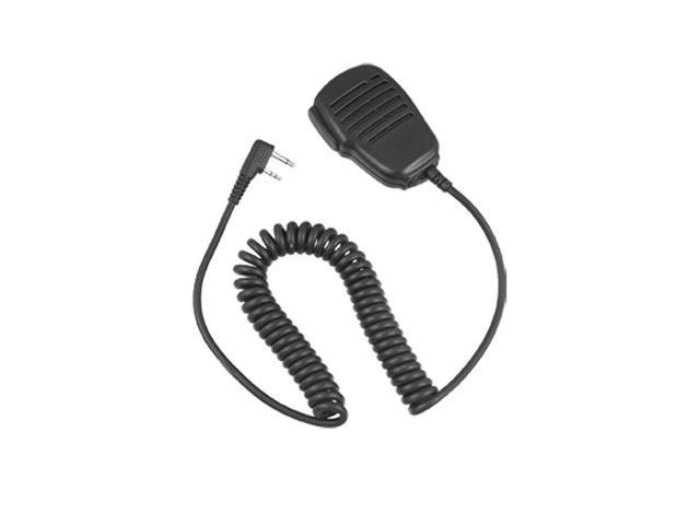 Black 2 Pin Plug Handheld Speaker Microphone for Icom IC-IV8