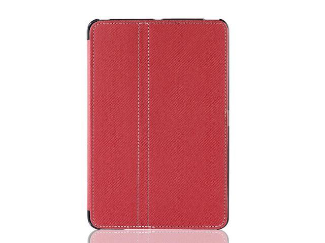 PU Leather Wake up Sleep Smart Flip Case Cover Red for iPad Mini 1 2