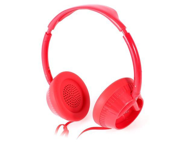 Red 3.5mm Plug Stereo Headset Headphone Earphone for Notebook Laptop MP3 MP4 PC