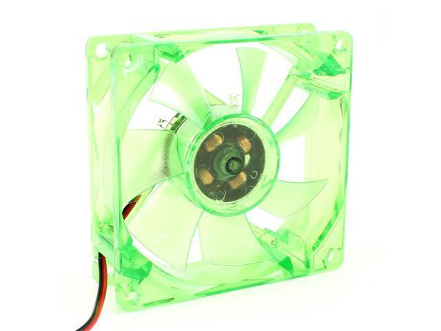8cm x 8cm x 2.5cm Green Led PC Computer Case CPU Cooler Cooling Fan 12VDC