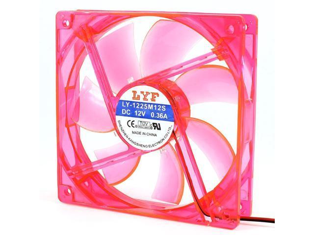 120mm 23dB 60CFM 4P Blue LED Light Computer Case Cooling Cooler Fan