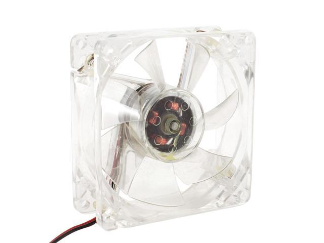 80mm x 25mm DC12V 0.17A 4Pin Colored LED Cooling Fan for CPU Cooler PC Case