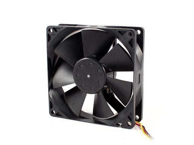 DC 12V 0.26A 3 Pins Computer Case CPU Cooling Fan Black 90mm x 90mm x 25mm