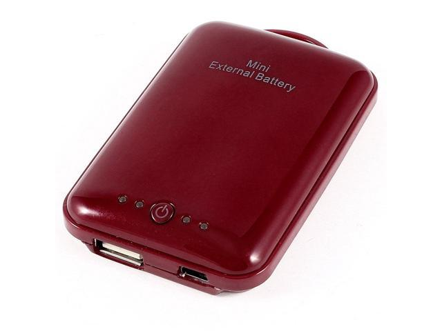Red 2100mAh External Power Bank USB Battery Charger for Smart Phone