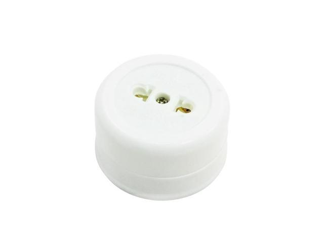 US EU Outlet Socket Round Plastic Shell Wall Plate 250VAC 10A