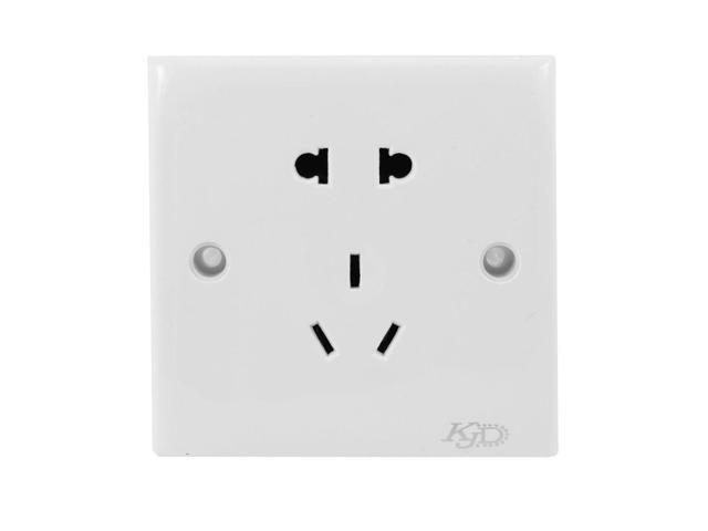 Home Plastic Shell 2 Pin US EU Outlet 3 Pins AU Socket Wall Plate 250VAC 10A