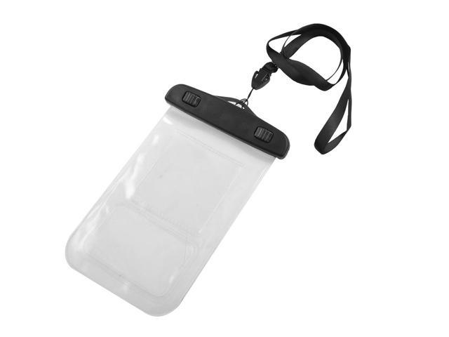 Water Resistant Bag Case Black + Neck Lanyard + Armband for iPhone 4 4G 4S