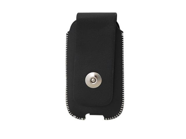 Black Faux Leather Flip Pull Up Pouches for Nokia 5130