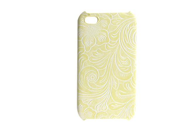 Light Yellow Hard Plastic Protector for iPhone 4 4G