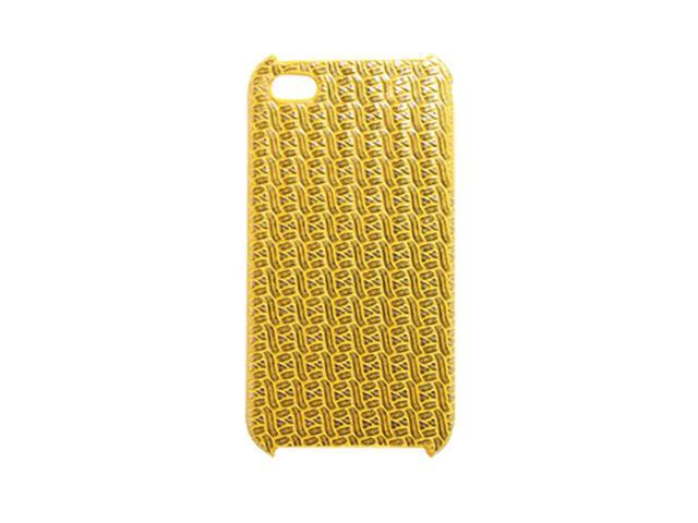 Yellow Textured Hard Plastic Protector for iPhone 4
