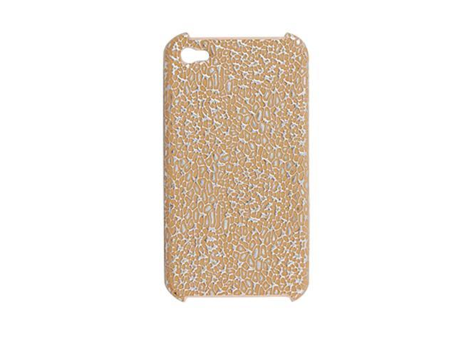 Yellow Silver Tone Cover Case Protector for iPhone 4 4G