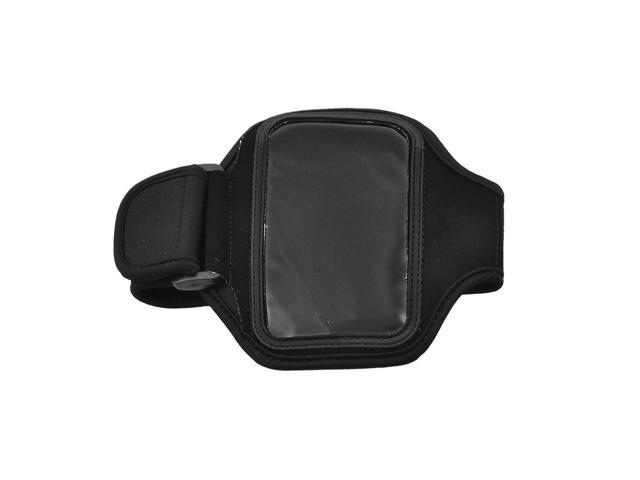Black Neoprene Adjustable Length Holder Armband for iPhone 4 4G
