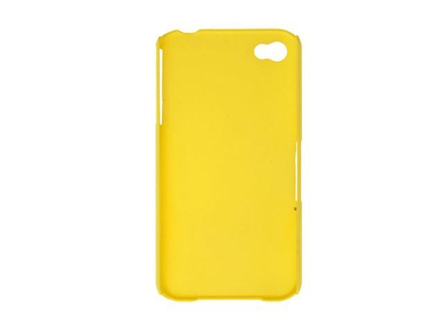 Yellow Hard Plastic Back Case Protector for iPhone 4 Azzsb
