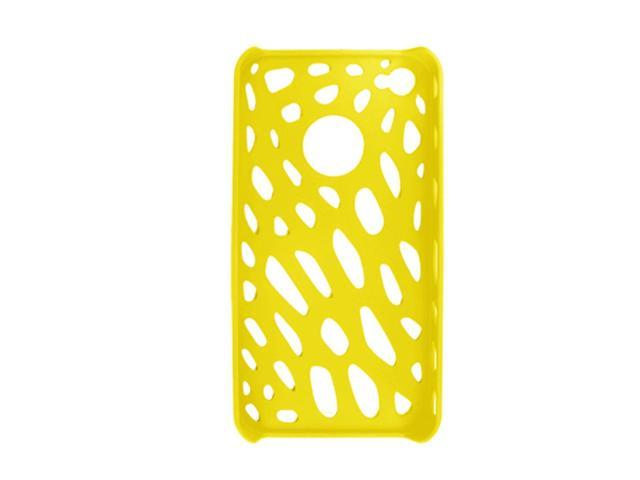 Yellow Hole Design Case + Screen Protector for iPhone 4