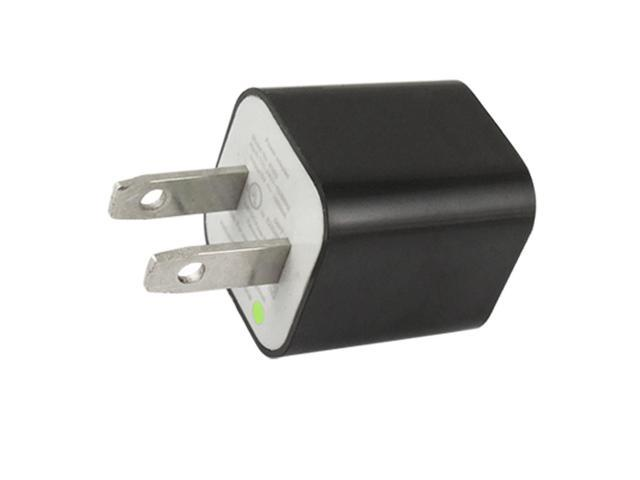 US Plug AC 100-240V USB Port AC Charger Adapter Black for iPhone 4G