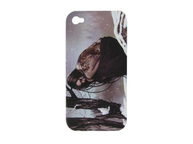 Lady Print Cover Hard Case + Screen Protector for iPhone 4