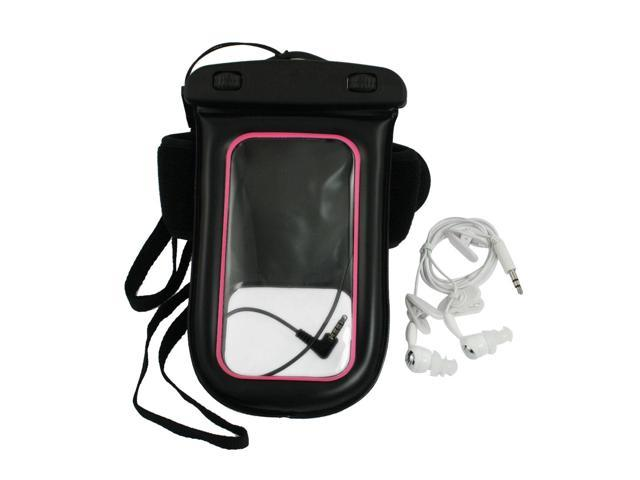 Black Pink Water Resistant Bag Holder Neck Strap Armband for iPhone 4 4G