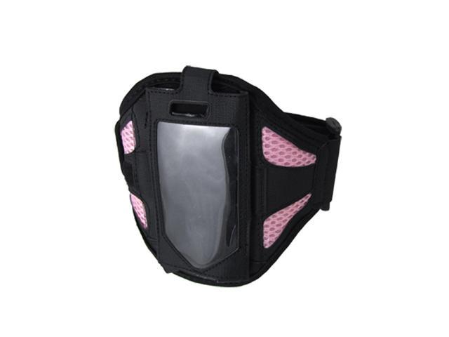 Black Pink Mesh Sports Holder Case Armband for iPhone 4