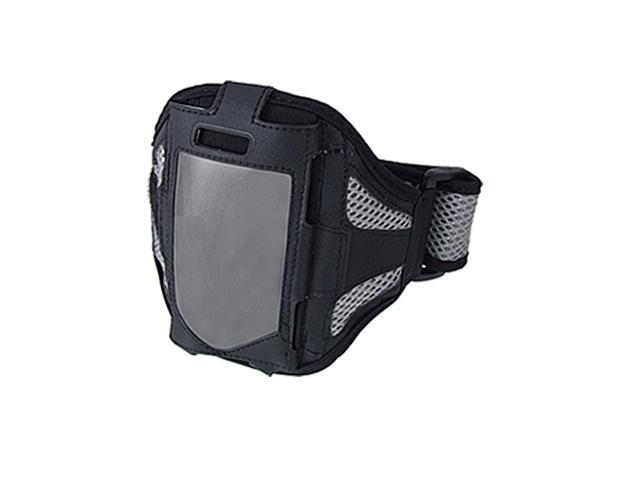 Black Gray Mesh Sports Holder Case Armband for iPhone 4