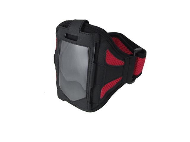 Adjustable Sports Black Red Holder Armband for iPhone 4