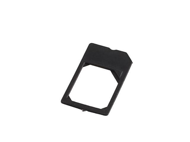 Black Plastic Micro SIM Card Adapter for Apple iPhone iPad 4G