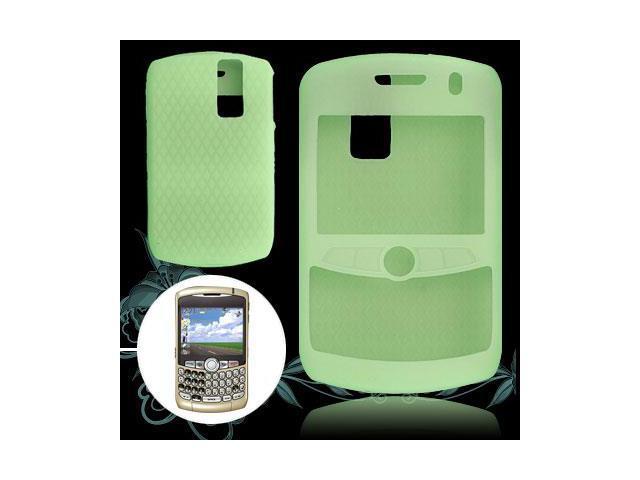Green Anti-Slip Silicone Cover for Blackberry 8300 8320