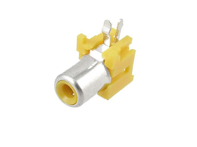 Yellow RCA Outlet Audio Video AC Female Socket Coupler