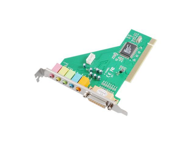 PC 8738 Chip Type 5 Channels DB15 Female PCI Audio Stereo Sound Card