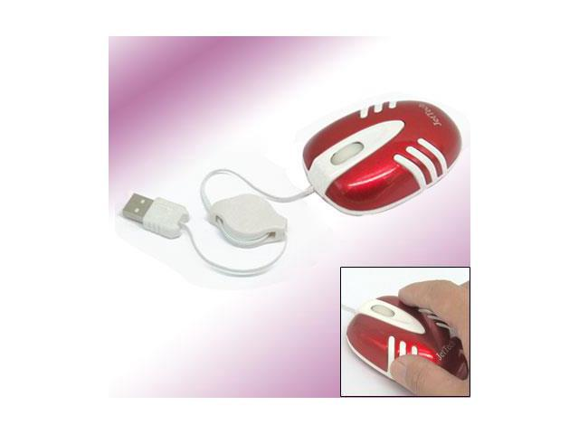3D Retractable USB Laptop PC Optical Scroll Wheel Mouse