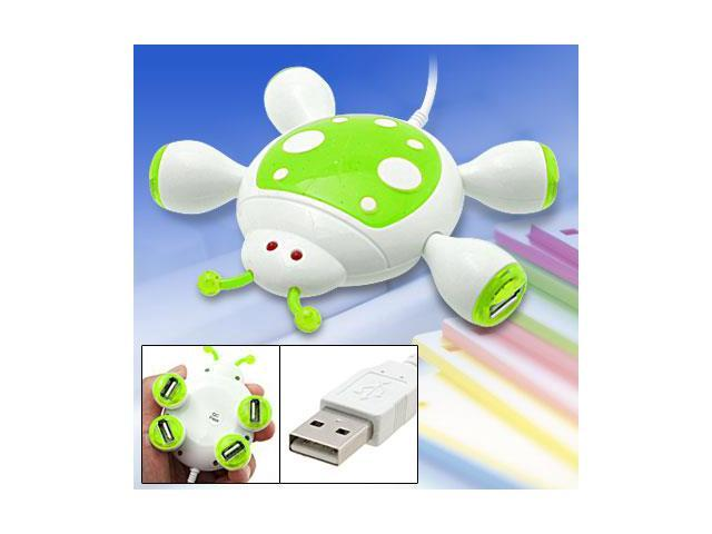 Portable Cartoon Beetle USB 4 Port Hub for PC Laptop
