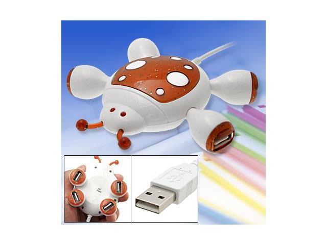 PC Laptop Cute Cartoon Beetle Design USB 2.0 4 Port Hub