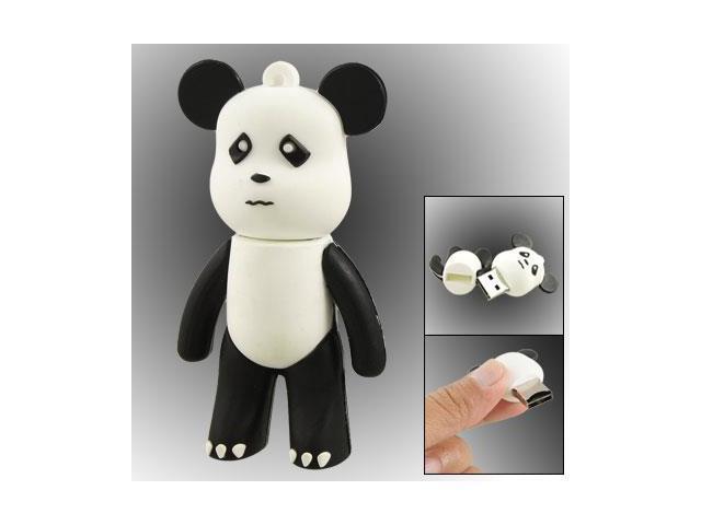 Black White Bear Shape USB 2.0 TF Micro SD Card Reader